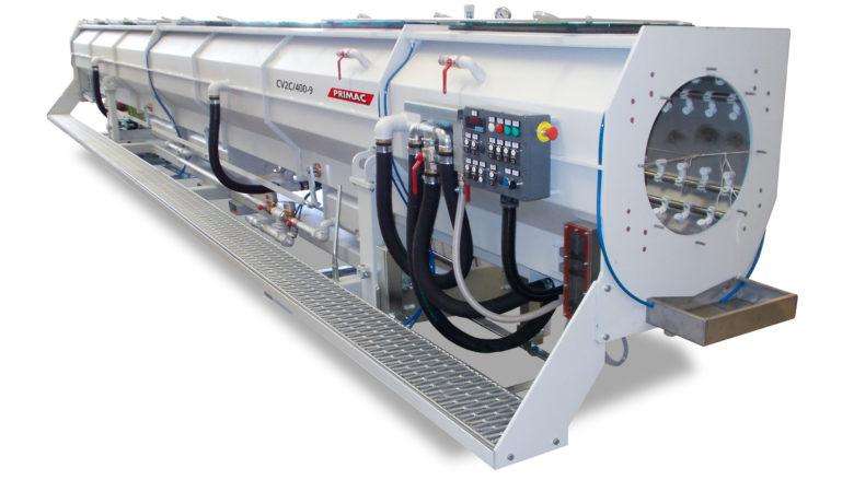 Vista frontale vasca di calibrazione a camera doppia tipo CV2C/400-9